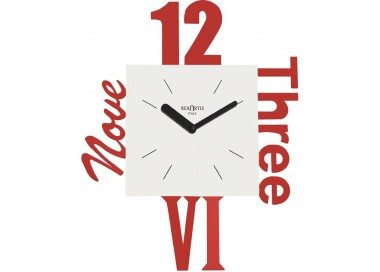 red wall clocks for living room