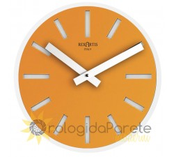 round golden yellow wall clock
