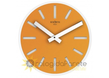 round golden yellow wall clock