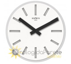 orologio di design bianco rotondo alioth rexartis