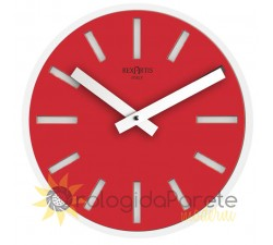 red wall clock for office