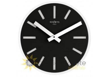 orologio di design nero rotondo alioth rexartis
