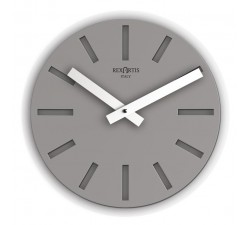 grey wall clock in metal, rexartis, italian clock