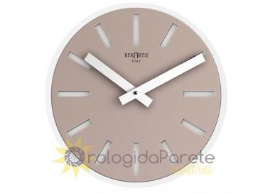 Light taupe wall clocks