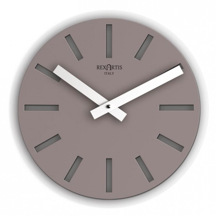 ALIOTH TAUPE WALL CLOCK