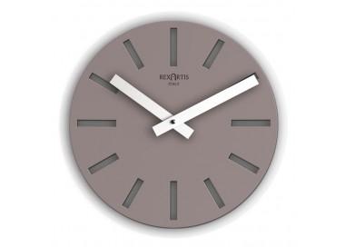orologio rotondo da parete tortora