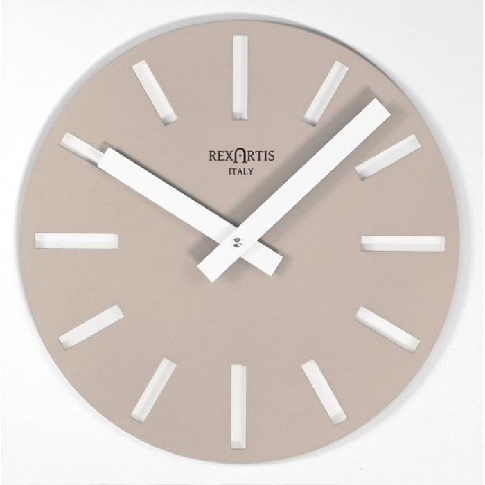 WALL CLOCK DOVE GREY CLEAR