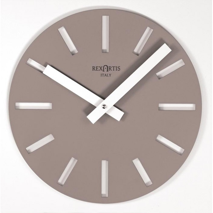 WALL CLOCK TAUPE