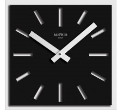 black square wall clock, naos rexartis