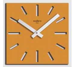 yellow square wall clocks