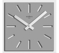 clocks for the home rexartis naos grey silver
