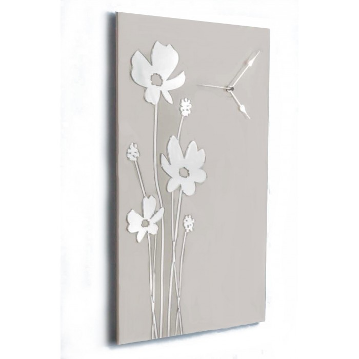 RECTANGULAR PAINTED WOOD WALL CLOCK - DETTAGLI COLLECTION