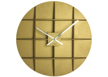BIG WALL CLOCKS FOR LIVING ROOM, GOLDEN YELLOW SQUARE REXARTIS