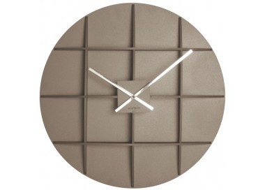 wall clocks large, wooden, rexartis square dove dark