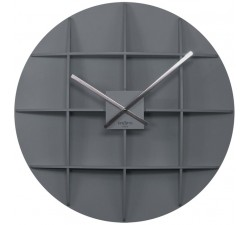 BIG GREY WALL CLOCK REXARTIS SQUARE