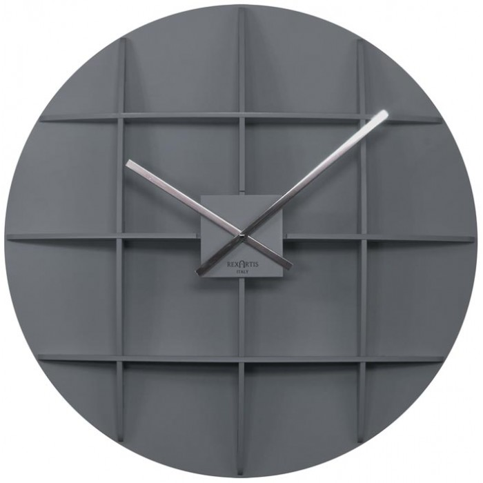 WALL CLOCK SQUARE GREY