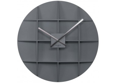 wall clocks large, wooden, rexartis square grey