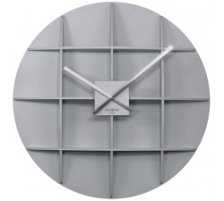 WALL CLOCK SQUARE SILVER