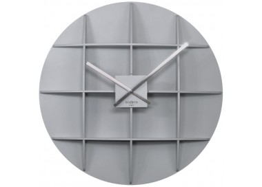 wall clocks large, wooden, rexartis square dark gray