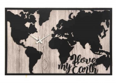 THE LARGE CLOCK IN WOOD WORLD MAP WALL FOR OFFICE OR LIVING ROOM COLLECTION, THE ABILITY TO SPEAK MEMORY