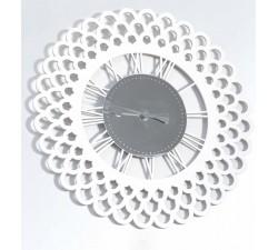 orologio rotondo legno e plexiglass da parete