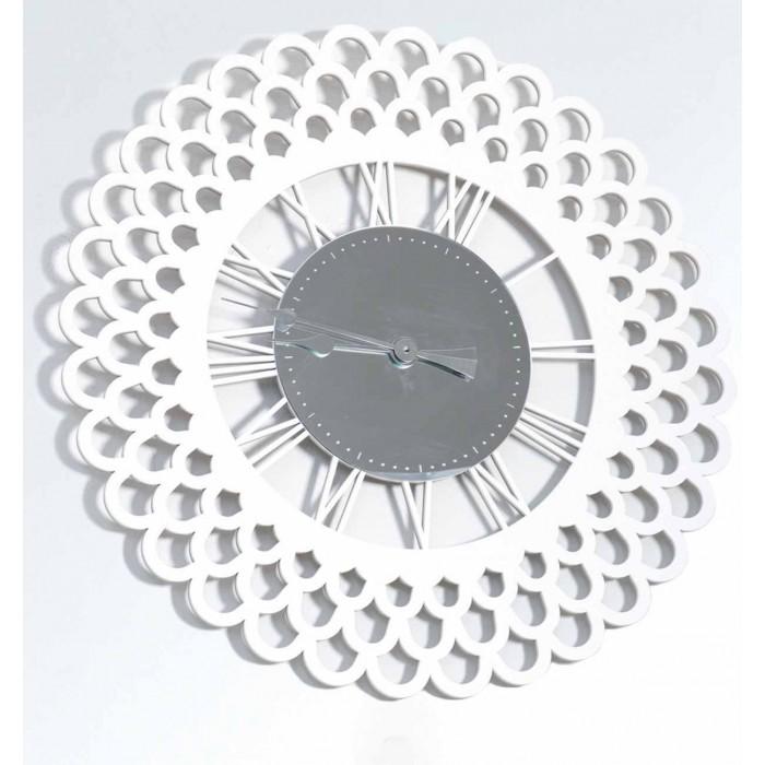 GREAT ROUND CLOCK WOOD AND PLEXIGLASS DECORATIVE WALL