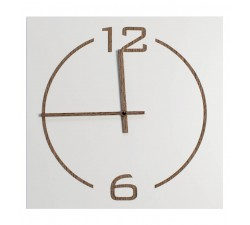 wall clock square wood lacquered