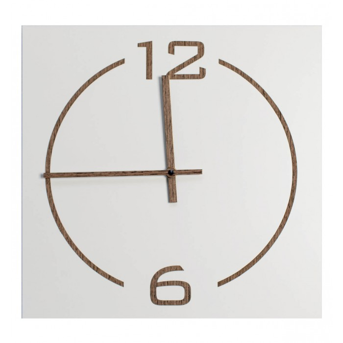 WALL CLOCK SQUARE WOODEN LACQUERED