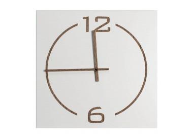 horloge murale carrée en bois laqué