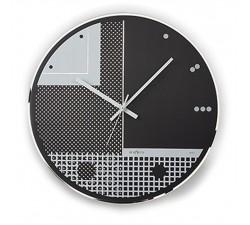 Horloge en Verre à sérigraphie modèle de mur