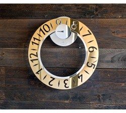 Wall clock acrylic mirror gold