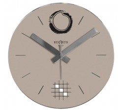 wall clock-dove, clear, desy rexartis