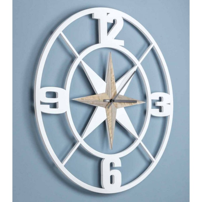 LARGE WATCH WOOD WENGE WALL mounted compass ROSE - THE DETAILS