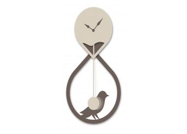 Orologio design moderno in Legno Laccato con pendolo