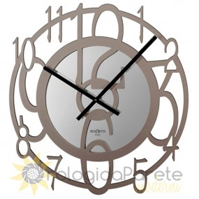 WALL CLOCK MODERN ROUND WOOD LACQUERED PERFORATED
