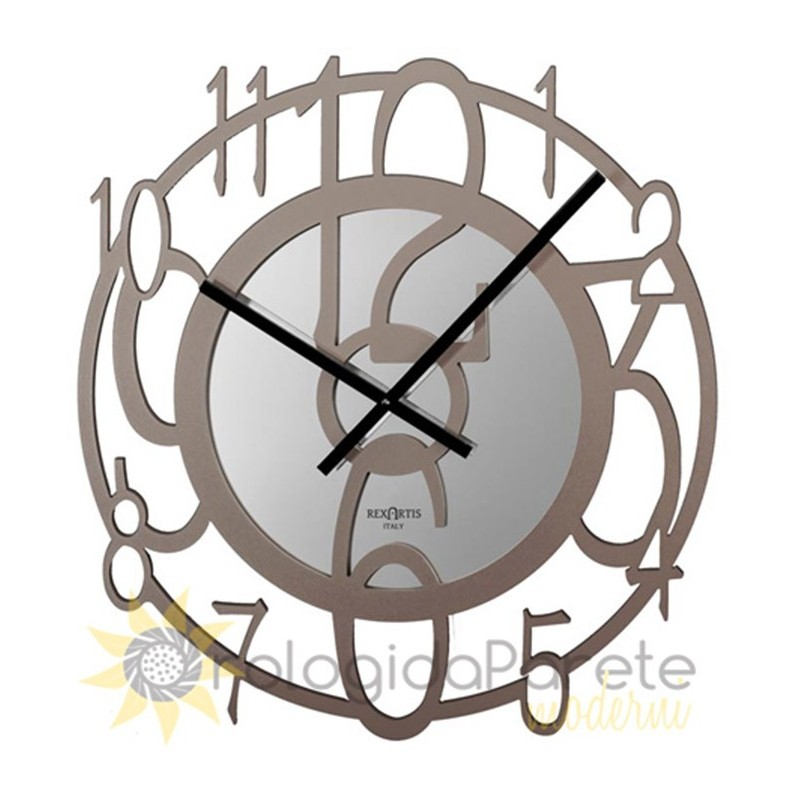 WALL CLOCK ERIN IN LACQUERED WOOD with PERFORATED