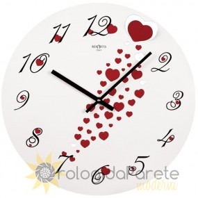 WALL CLOCK MODERN ROUND METAL PAINTED