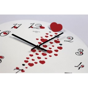 WALL CLOCK PASSION IN PAINTED METAL