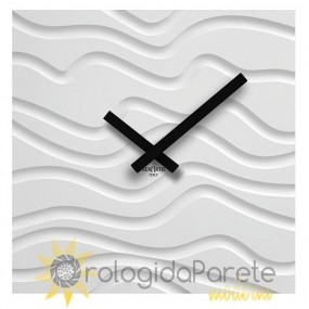 WALL CLOCK MODERN SQUARE WOOD LACQUERED