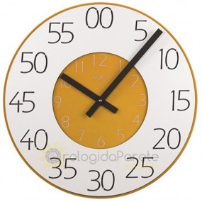 WALL CLOCK MODERN ROUND WOOD LACQUERED