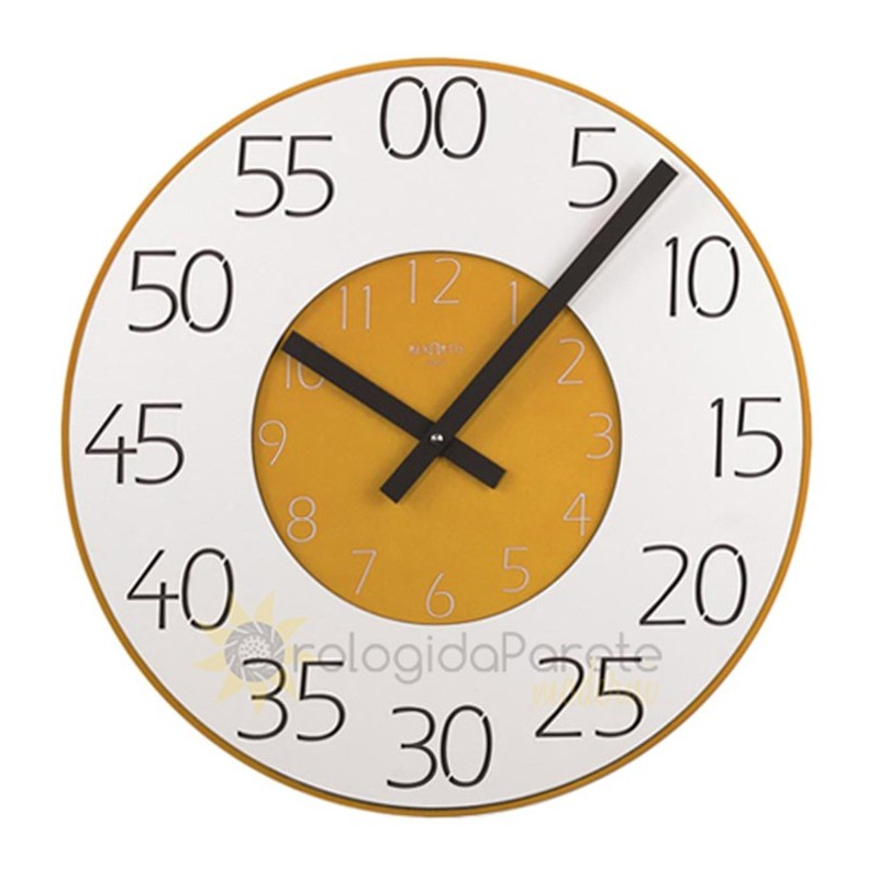 WALL CLOCK DOUBLE ROUND LACQUERED WOOD
