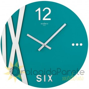 WALL CLOCK MODERN ROUND WOOD LACQUERED ACQUAMARE
