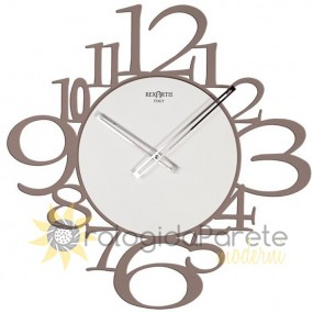 WALL CLOCK MODERN ROUND WOOD AND METAL OFFICE