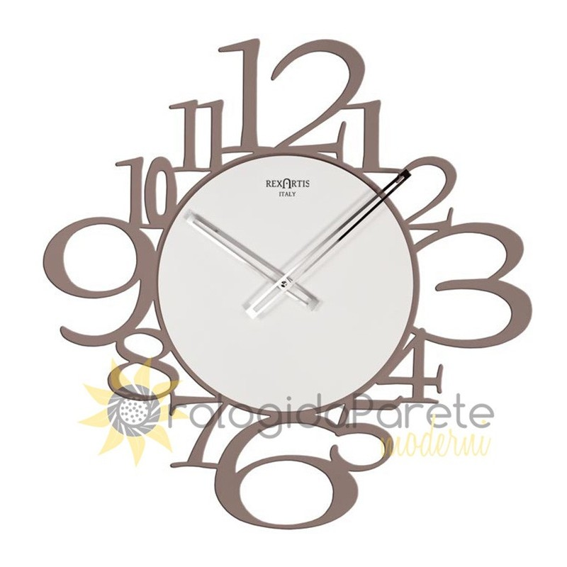 CLOCK IRON WALL mounted MODERN ROUND WOOD AND METAL