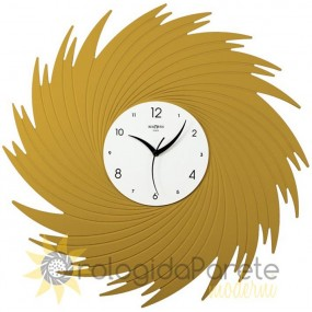 LARGE WALL CLOCK MODERN ROUND CARVED WOOD FOR BED ROOM - LIVING ROOM