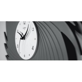LARGE WALL CLOCK VORTEX ROUND WOOD