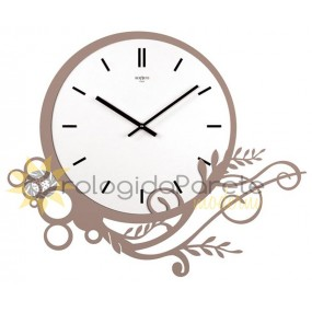 LARGE WALL CLOCK MODERN METAL AND WOOD
