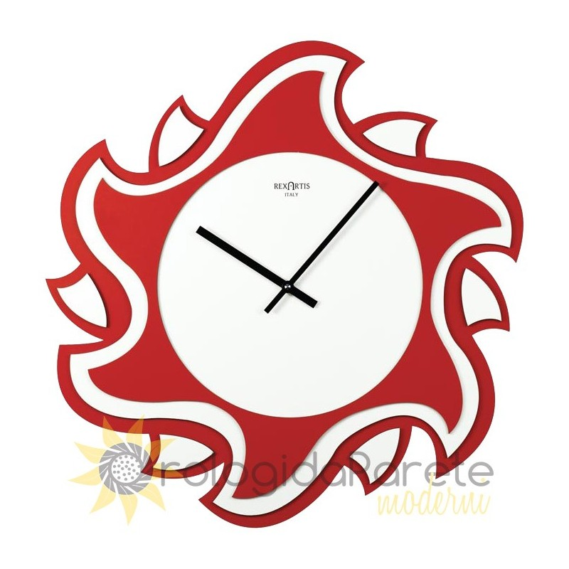 WALL CLOCK MODERN SHAPED WOODEN LACQUERED