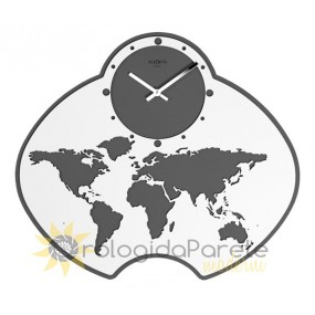 WALL CLOCK MODERN GLOBE IN LACQUERED WOOD