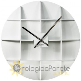 BIG WHITE WALL CLOCK IN WOOD